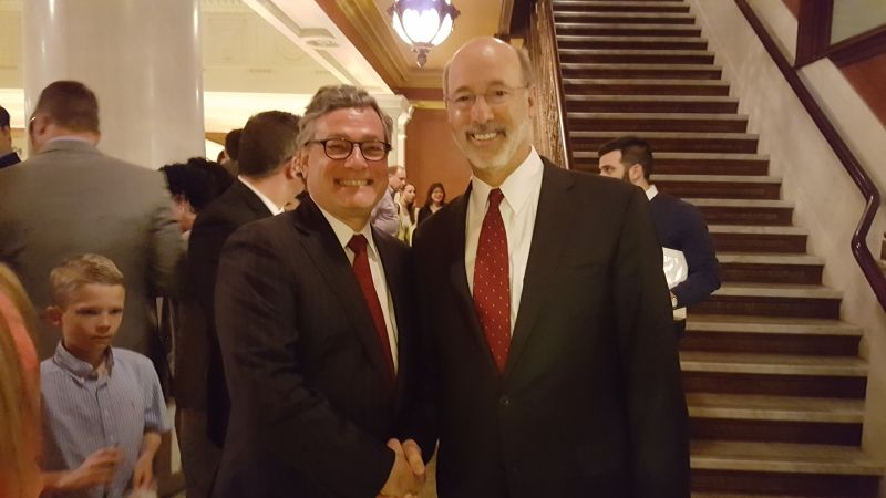 Andrew Sacks with Governor Tom Wolf